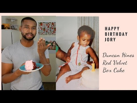 How To Make Duncan Hines Red Velvet Box Cake | Jory's Birthday
