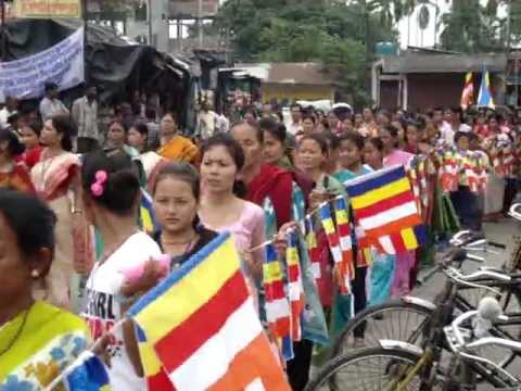 MALBAZAR BUDDHIST  COMMUNITY PROCESSION ON 12TH MAY 2012