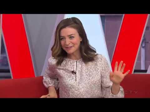Caterina Scorsone in the eTalk Newsroom