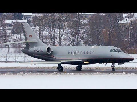 Dassault Falcon 2000EX from Canada ✈ Take-Off at Bern in Adv