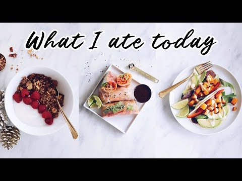 WHAT I ATE TODAY (trying new vegan recipes)