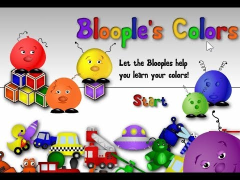 Learning Colors For Kids | Preschool Color Games | Bloople\'s Colors ...