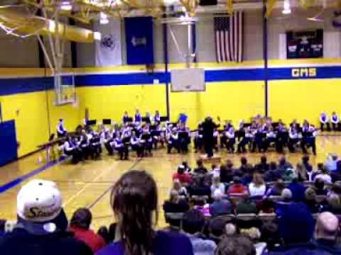Gaylord Middle School 7th Grade Winter Concert 2011 Song 3