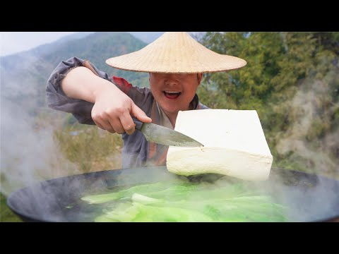 【shyo video】過年大魚大肉吃多了,今天弄個青菜豆腐解解膩,真是別有一番風味