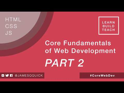 Core Fundamentals Of Web Development Part 2 - Creating The App Skeleton