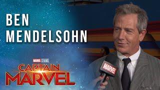 Ben Mendelsohn on being the villain! | Captain Marvel Red Carpet LIVE Premiere