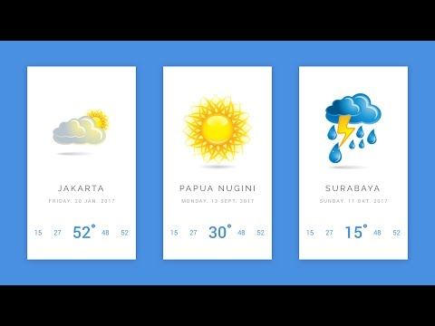 Weather App Animation [ Final Part  ] Mobile UI Design Tutorial