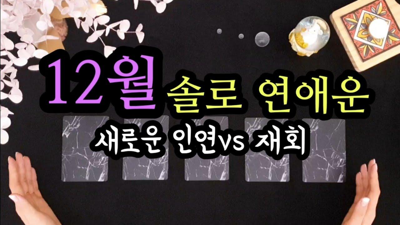[타로/연애운] 12월 솔로 연애운💜 (새로 운인연vs재회)