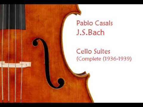 J S Bach  Pablo Casals  Cello Suit