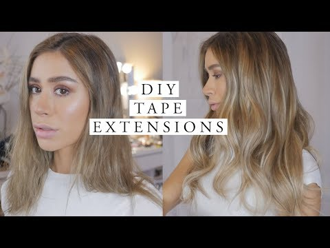 DIY TAPE IN HAIR EXTENSIONS TUTORIAL