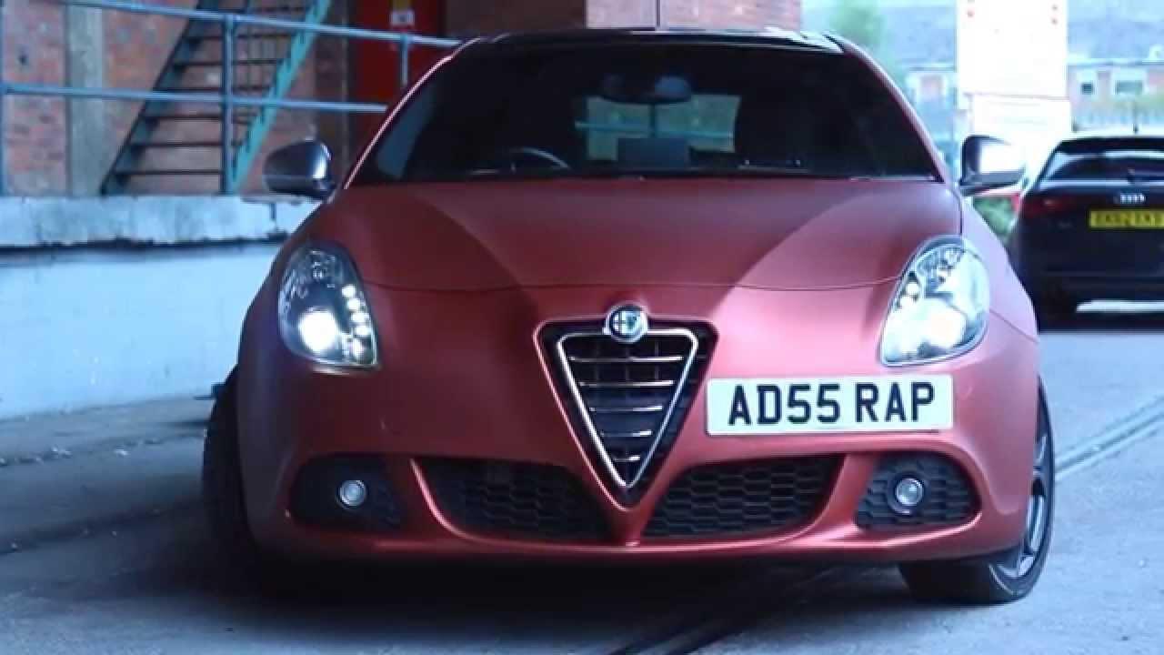 Alfa Romeo Giulietta >> FULL WRAP - Alfa Romeo - Red Aluminium - YouTube