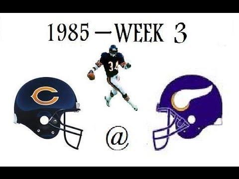 Walter Payton Highlights | 1985 - Week 3 | Chicago at Minnesota