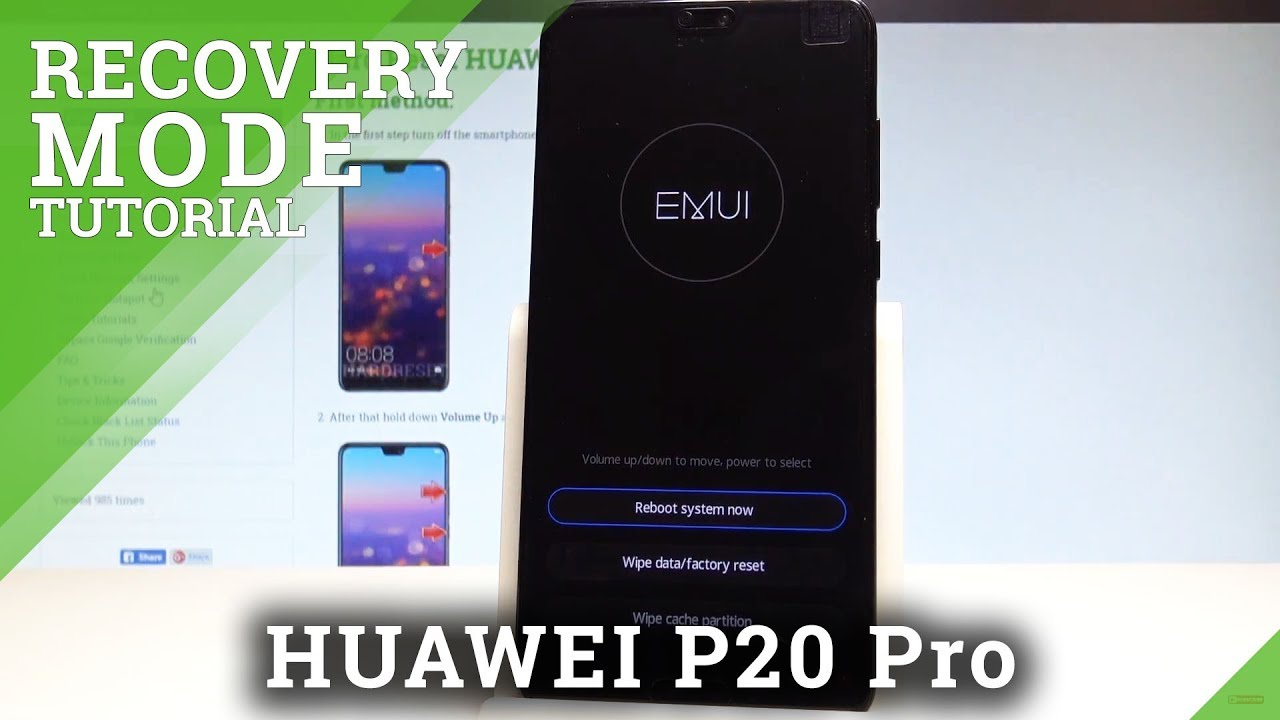 How to Open EMUI Mode in HUAWEI P20 Pro - EMUI Recovery Mode |HardReset Info
