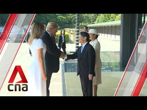 Donald Trump becomes first foreign leader to meet Japan's Emperor Naruhito