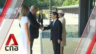 Donald Trump becomes first foreign leader to meet Japan's Emperor Naruhito thumbnail
