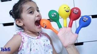 Smiley Balloon Finger Family Song by Rufi