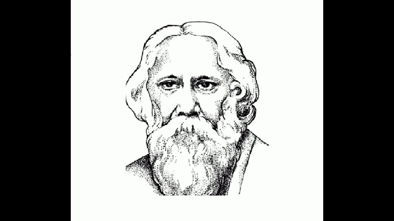 How to draw rabindranath tagore face pencil drawing step by step