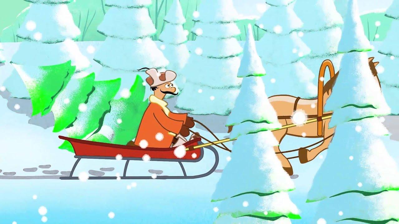 Новогодние песни - В лесу родилась елочка - YouTube