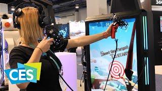 VRLEO: la realtà virtuale diventa un cabinato per sala giochi | CES 2020 ita