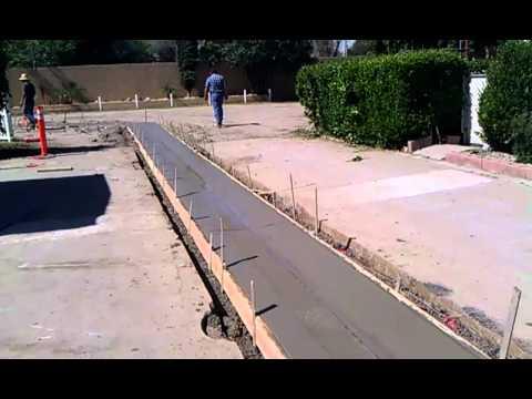 Glenoaks Mhp Concrete Gutter Youtube