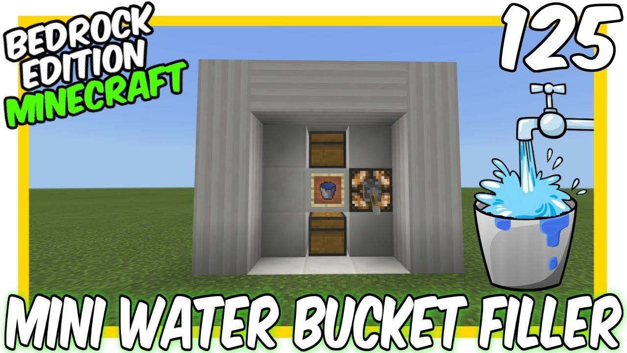 Mini Water Bucket Filler Tutorial [Minecraft Bedrock Edition][MCPE]