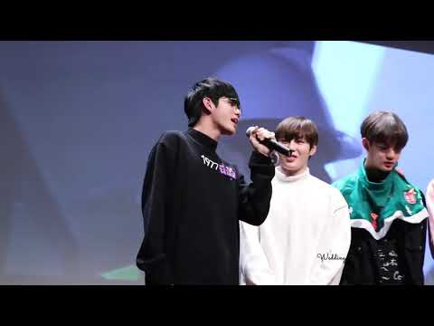 ONG SEONGWOO SINGING HIS KILLING PART from I WANNA HAVE (갖고 싶어) at fansign