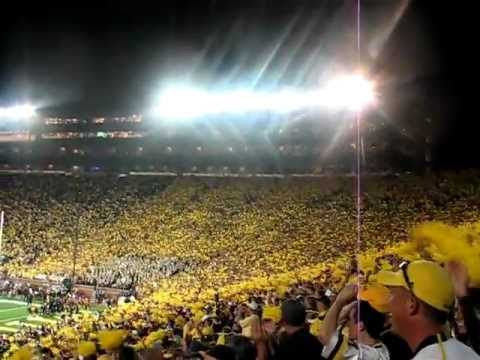 HAIL to Michigan!  Post game crowd sings in the big house!  HD