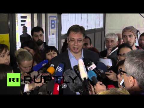 Serbia: PM Vucic casts his vote in parliamentary elections