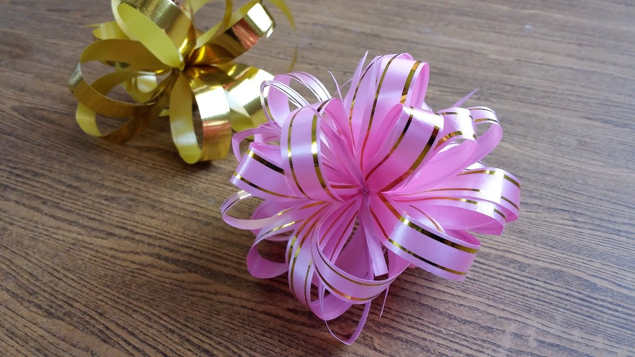 DIY How to make a gift bow ギフト弓