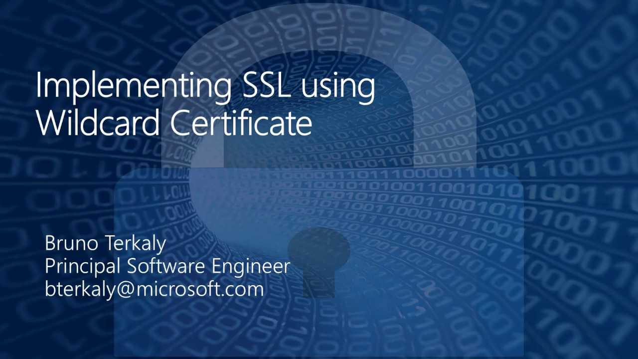 The Most Concise Hands On Explanation Of Setting Up Ssl Wildcard