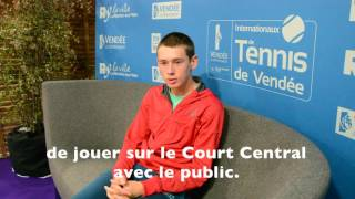 Alex De Minaur (AUS) - Interview d'avant match.