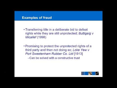 Land Law - Registered Land Part 1