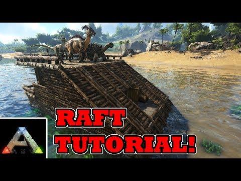 Easy beginner raft tutorial - Ark Survival Evolved raft base