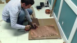 How To Install Lay-in Solid Copper Ceiling Tiles