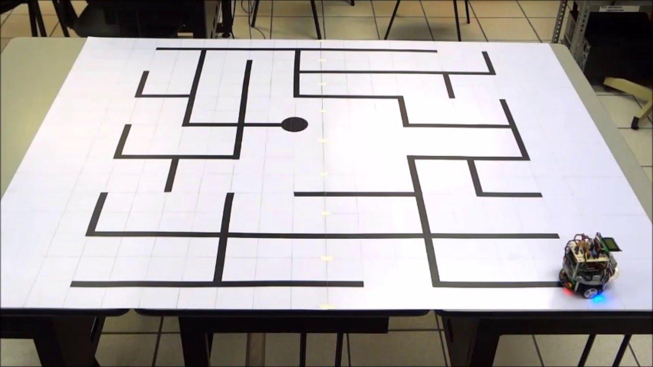 Robot móvil seguidor de líneas que resuelve laberintos