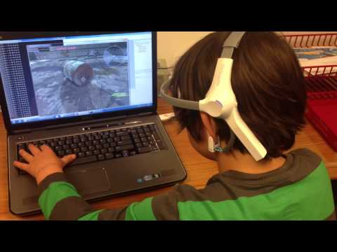 Mind games: Using brain waves to play a video game