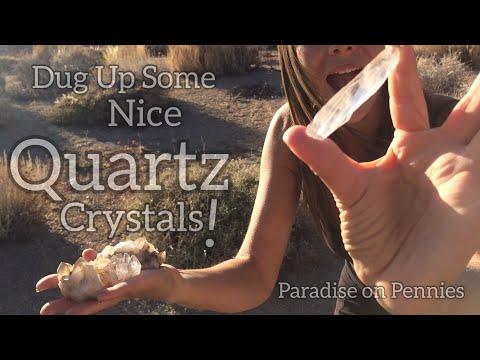 Nice BIG Quartz Crystals!! Rockhounding California