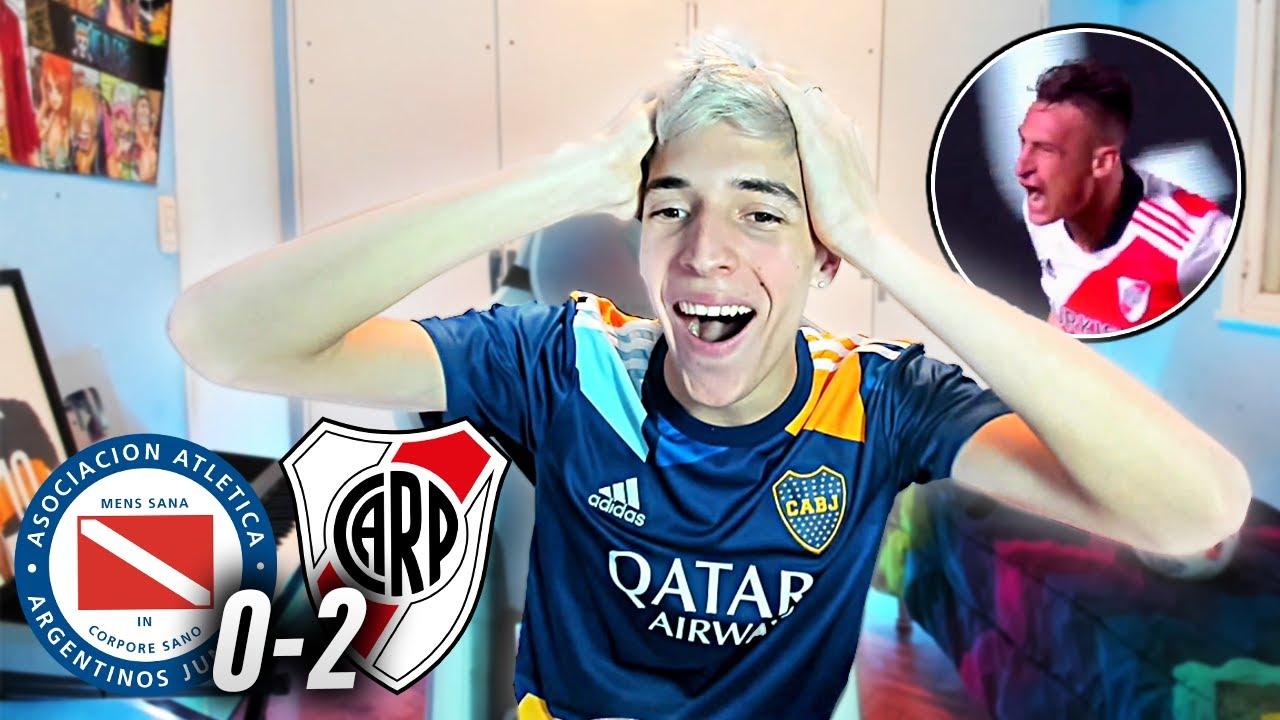 ARGENTINOS 0 - RIVER PLATE 2 - REACCION HINCHA DE BOCA - Copa Libertadores 2021 - Octavos - Toto