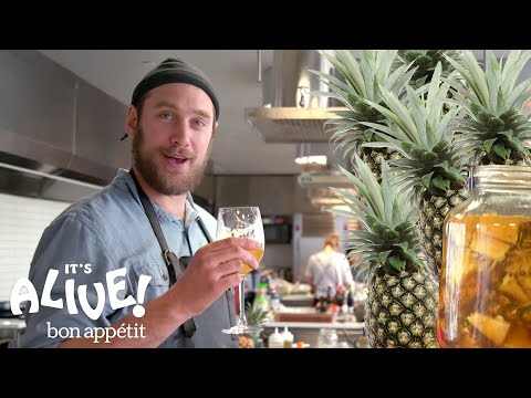 Brad Makes a Fermented Mexican Pineapple Drink Tepache  It's Alive  Bon Appétit