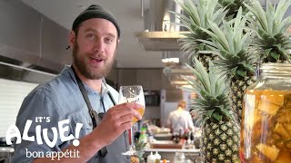 Brad Makes a Fermented Mexican Pineapple Drink (Tepache) | It\'s Alive | Bon Appétit