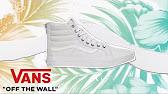 92522201a52 Vans Sk8-Hi Slim Sneaker Zip Leather Black Leopard VXH8DUI - YouTube