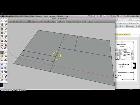 How to start a Architectural Floorplan in Google Sketchup