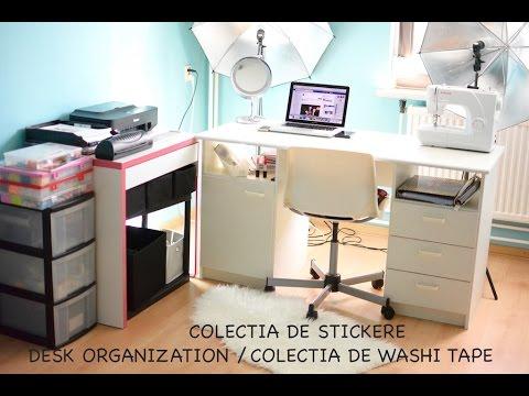Colectia de stickere | Colectia de washitape | Stationery collection | Desk organization