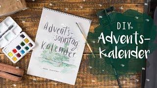 DIY Adventskalender mit Handlettering und Wasserfarbe / Watercolour / Aquarell