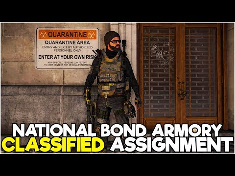 National Bond Armory Classified Assignment FULL Collectible Guide! - The Division 2