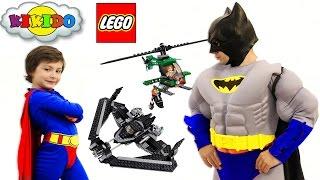 - Лего Бэтмен против Супермена 76046. Битва Супергероев в небе. Обзор и сборка конструктора. Кикидо