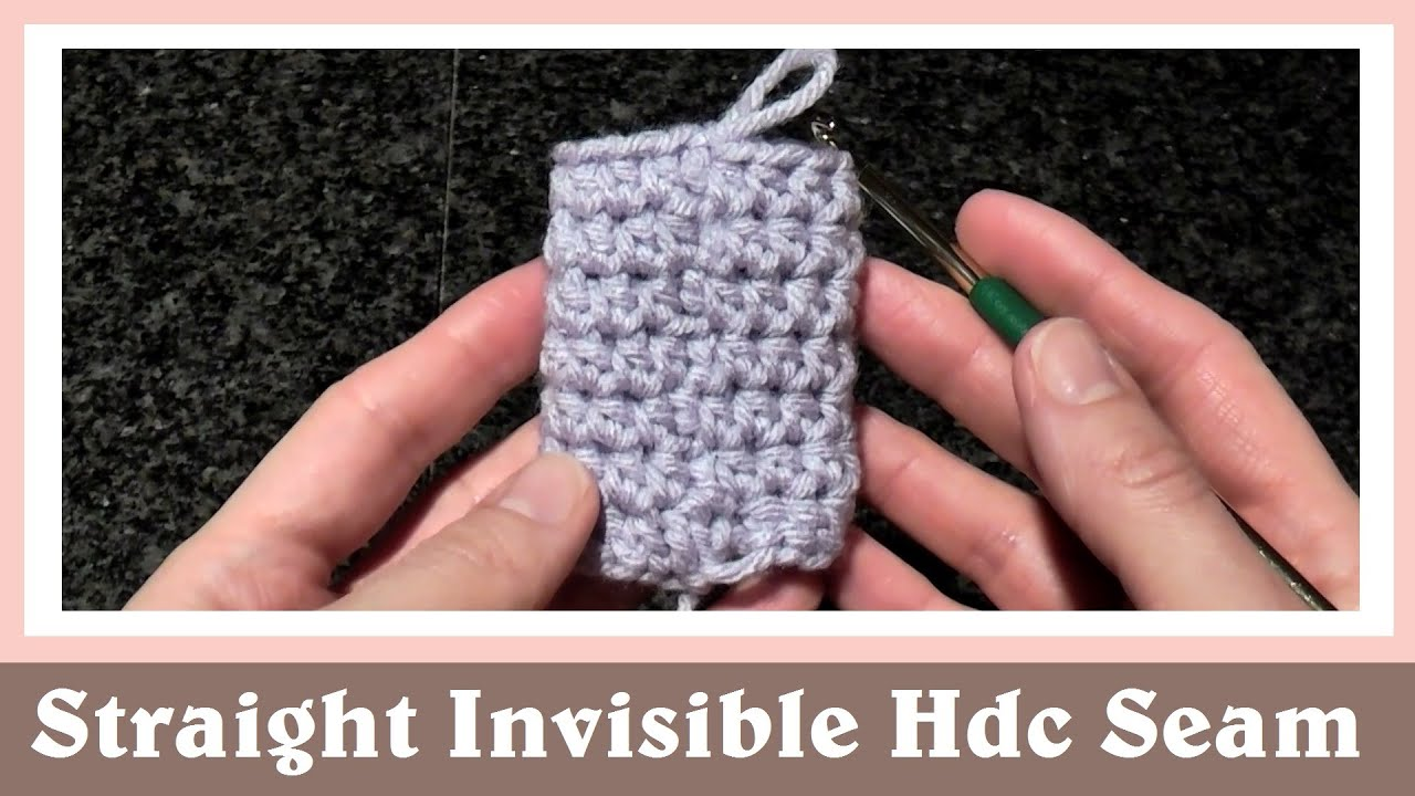 Double Knitting In The Round Youtube : Straight and invisible half double crochet seam in round