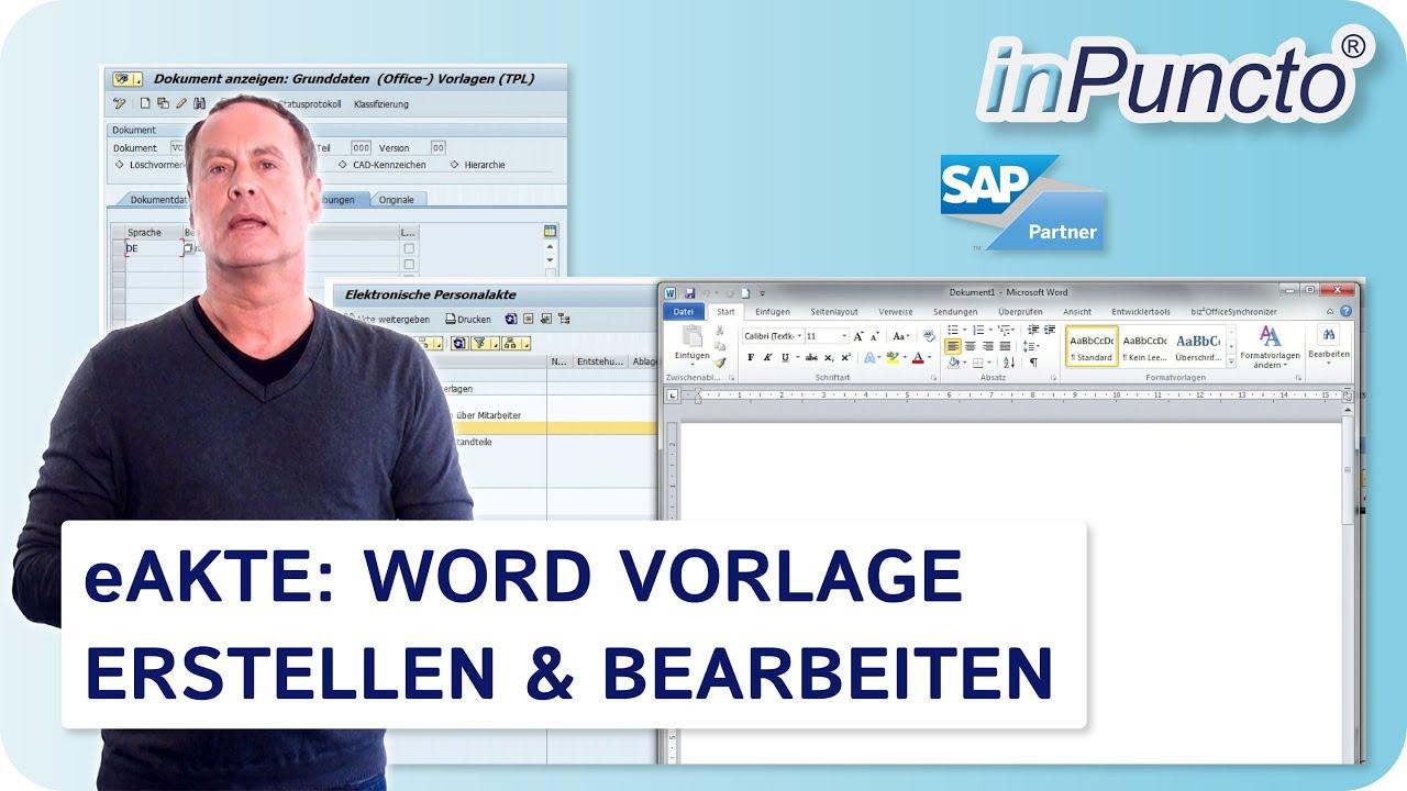 Word Vorlage Erstellen & Bearbeiten in der SAP Personalakte - YouTube