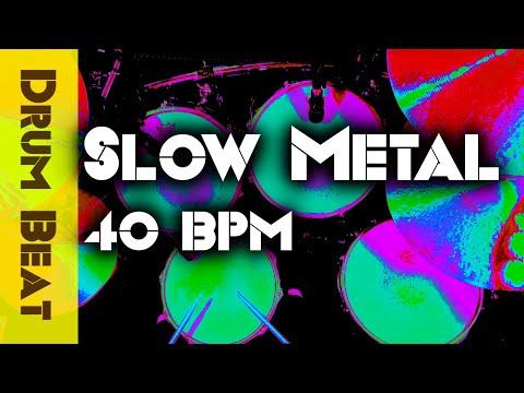 Slow Metal Drum Beat 40 BPM