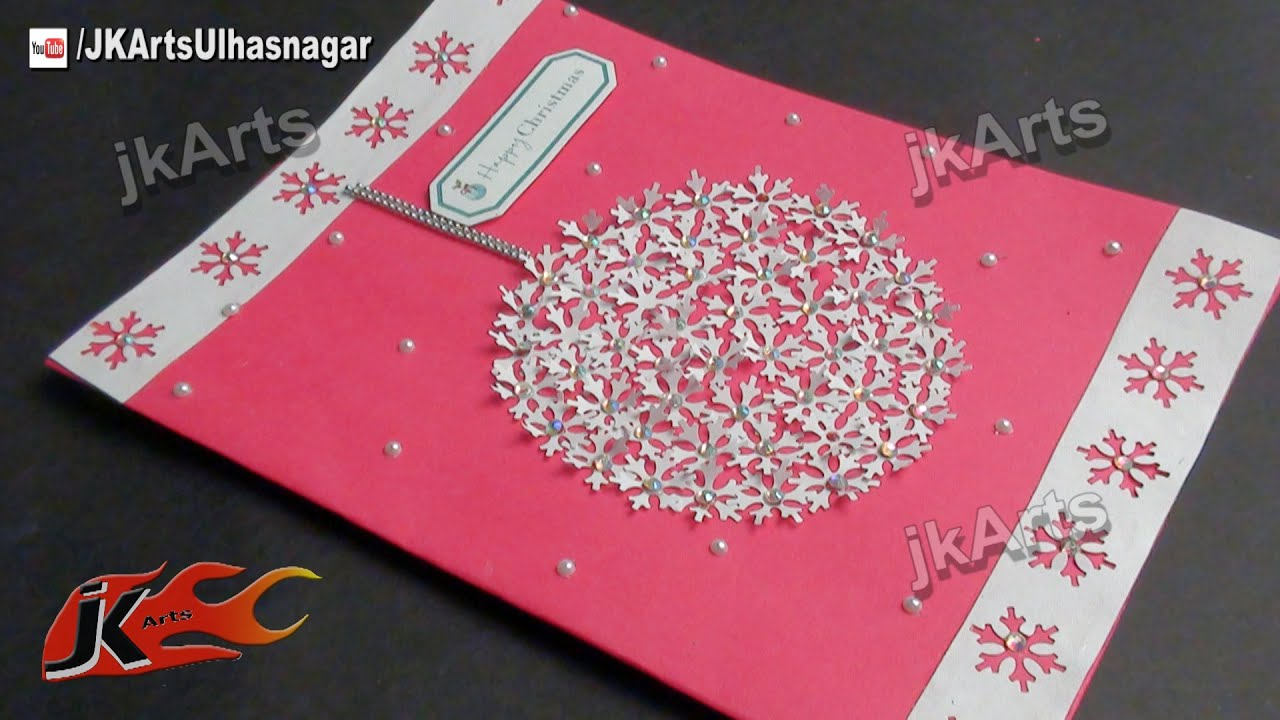 Awesome Art And Craft Ideas For Making Greeting Cards Part - 2: How To Make Christmas Cards | DIY Punch Craft Greeting Card | JK Arts 455 -  YouTube